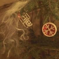 Juletre med pynt anno 1930 - 1960 i Villa Bergfall