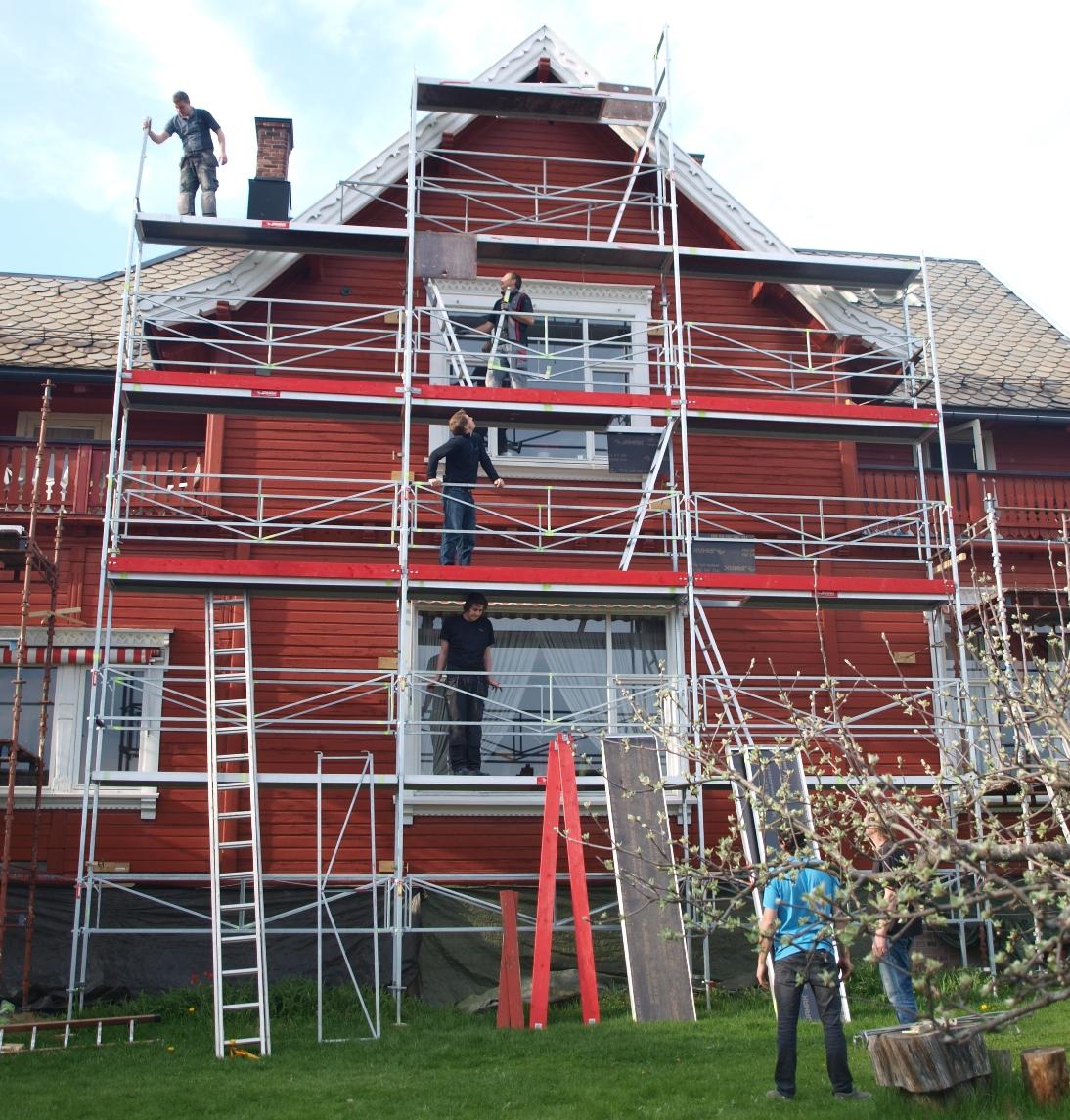 Villa bergfall restaurering sør