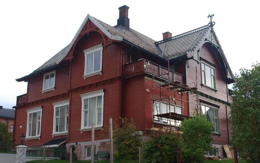 Restaurering sveitserveranda Villa Bergfall